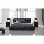 Cool Italian Design PU Leather Bed Frame (Black or White)