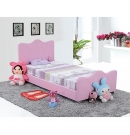 Little Princess Faux Leather Single Bed - Pink