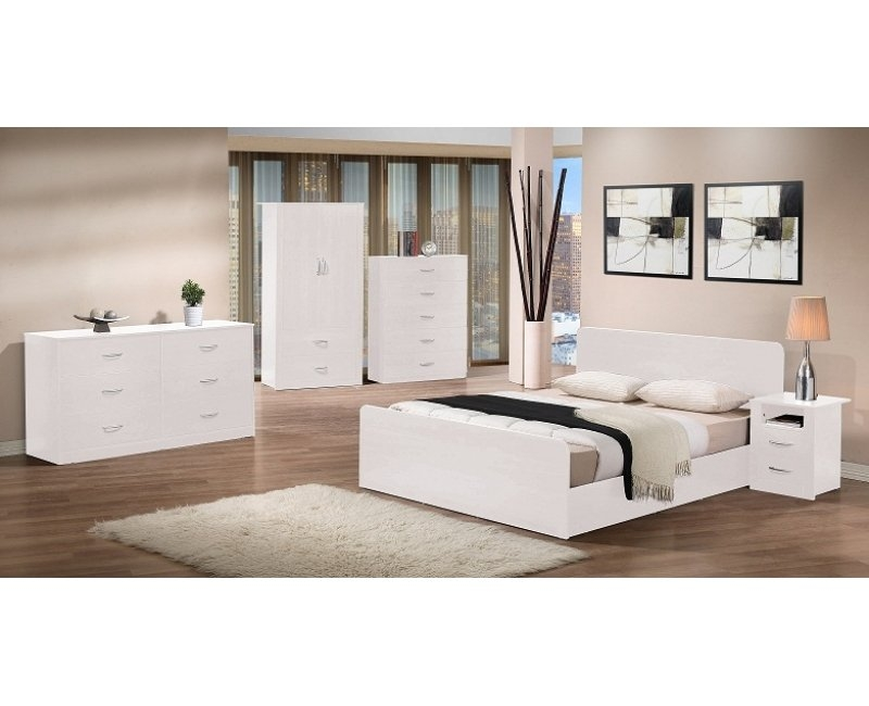 lazy bedroom suite white