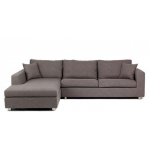 Zetland Fabric 3 Seat L shape Sofa with chaise