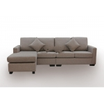 Zetland Fabric 4 Seat L shape Sofa with chaise