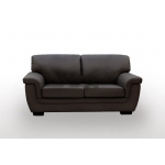 Hotdeal reno 2seatpu leather sofa brown