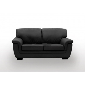 Hotdeal reno 2seatpu leather sofa black